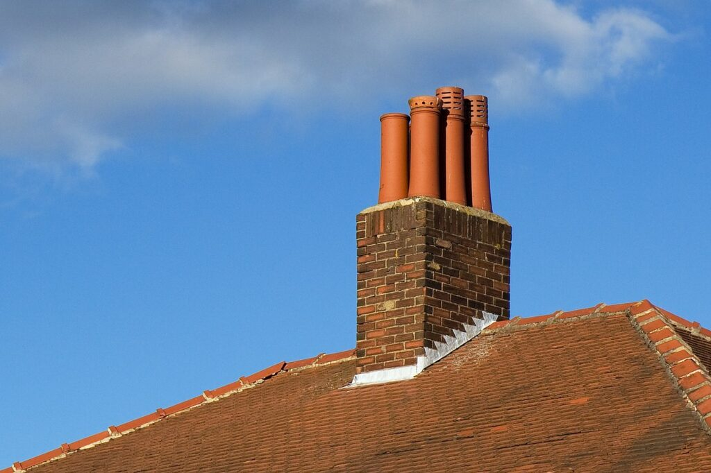 chimney, roof, part